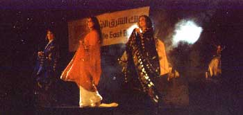 marta dance group dancing the Khaleeji dance in Dubai at a function of the Middle East Bank