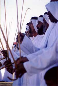 traditional gulf dance in Abu Dhabi on National Day in front of the Mashreq Palace of Sheikh Zayed