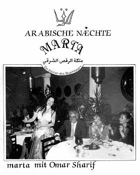 marta in the Yildizlar Restaurant with Omar Sharif